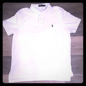 White Short-Sleeve Polo Ralph Lauren